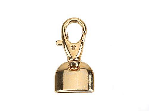 Mosquetón metálico con campana para pulseras, colgantes, bolsos, bor