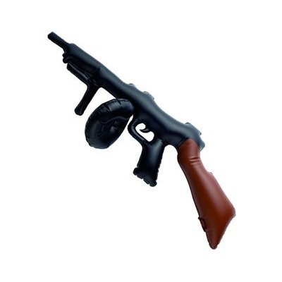2 X Aufblasbare Black & Brown Tommy Gun - ()