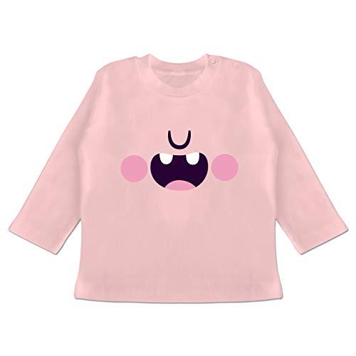 Karneval und Fasching Baby - Monster Verkleidung Karneval - 12-18 Monate - Babyrosa - BZ11 - Baby T-Shirt ()