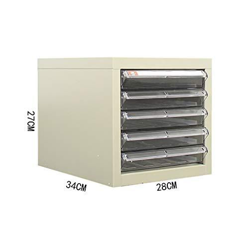 QSJY File Cabinets Armadi archivio Armadietto Porta Documenti, cassetto Estraibile da Tavolo con Chiusura a Chiave per Ufficio (Acciaio) 28 * 34 * 27CM (Dimensioni : A4S-105)