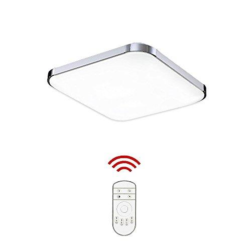Hengda 12W Dimmbar LED Deckenleuchte Bad 85V-265V Deckenlampe Designleuchte Wohnzimmer Küche 6000K-6500K Badleuchte 2700-3200K Lampe [Energieklasse A++]