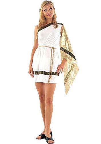 Ladies Römische Göttin Antike griechische Toga Kostüm Outfit U37158