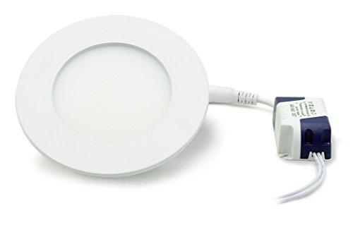Panneau LED rond avec 4 W Puissance, encastrable, blanc neutre, 8,6 cm - type : Economy r4086nw