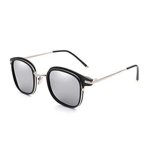 Easy Go Shopping Trendige Bunte Sonnenbrille Brille Frauen polarisierte vielseitige Mode Sonnenbrillen Sonnenbrillen und Flacher Spiegel (Color : Silber, Size : Kostenlos)