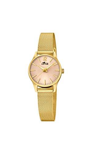 Lotus Watches Reloj Análogo clásico para Mujer de Cuarzo con Correa en Acero Inoxidable 18572/2