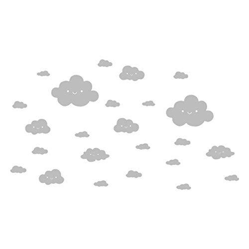 Wand Aufkleber Lächelndes Gesicht Weiß Wolken Vinyl Aufkleber Kunst Wand Aufkleber DIY Room Decor PVC Poster Kinder zimmer Tapete ()