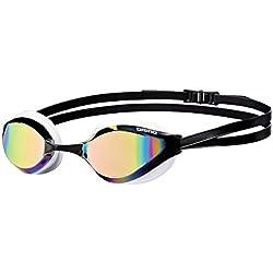 Arena Python Mirror Gafas de Natación, Unisex Adulto, Blanco (revo/White), Talla Única
