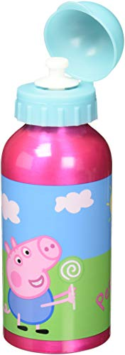 Peppa Pig- Botella cantimplora de Aluminio 400ml (STOR 48634), Centimeters (