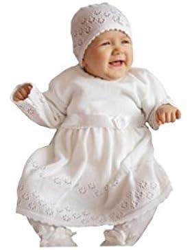 EKO Baby Mädchen Set Mütze und Taufkleid