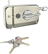 Godrej Locks Ultra XL+ Twinbolt -1 CK Satin Nickel - Inside opening