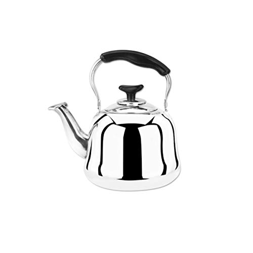 KEHUITONG Edelstahl-Wasserkessel, Filterteekanne mit Filtergitter, Gasherd-Induktionsherd, Universal-Wasserkocher, 1L-2L, klassisches 1L, Silber Hochwertiger Wasserkocher
