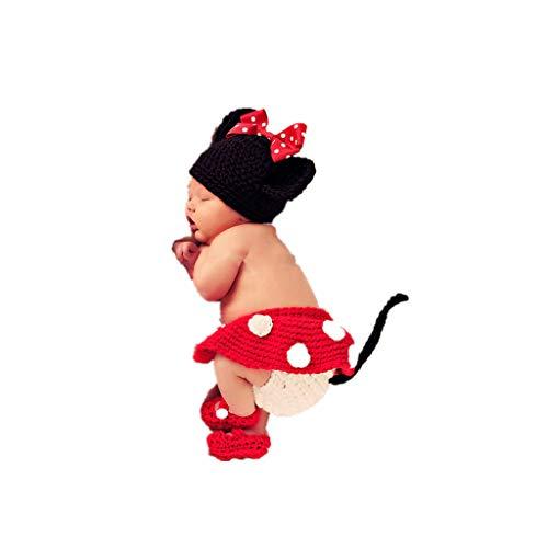 Infant Kostüm Monate 0 6 Blume - Malloom® 3pcs Mädchen Infant Baby Hut + Rock + Schuhe häkeln stricken Foto Prop