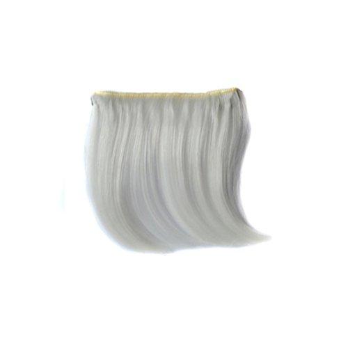 Tianya Clip auf Front Haar Pony kurz dünn Haarteil, weiß, Size: 10*14cm (Patient Fancy Dress)