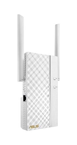 Asus RP-AC66 AC1750 Media-Bridge Dual-Band Repeater (WLAN AC-Standard, Gigabit LAN, externe Antennen, ExpressWay, Roaming, App Steuerung)