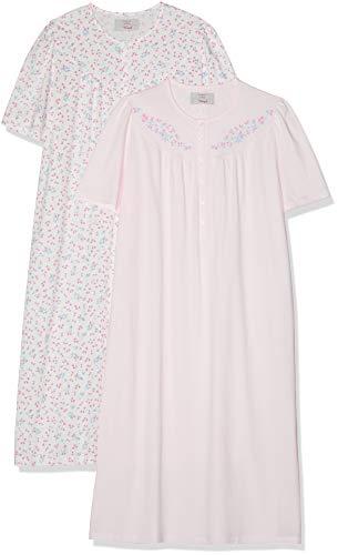 2 Pack Nachthemd (Triumph Damen Timeless Cotton SS19 NDK 2-Pack Nachthemd, Rosa (Pure Pink 1187), 36 (Herstellergröße: 36/38))