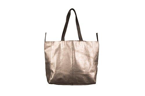 SALVADOR BACHILLER Einkaufstasche - Haven LOND1338 - Dark Silver (Schnalle Damen Piel)