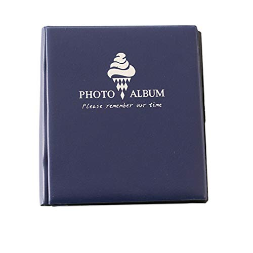 Jinshen 50 Pockets Dessert Book Photo Album & Name Card Holder for Fujifilm Instax Wide 300 210 Films 5 Inch Pictures - Deep Blue (Polaroid Blue 300)