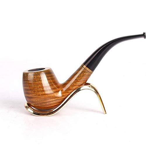 RMXMY Handgefertigte hölzerne Gebogene rauchende Röhrenmode-Persönlichkeit der tragbaren Männer kann grüne Sandelholzpfeife gesäubert Werden - Wasser-pfeife Tabak Bubbler Für