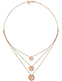 Mia by Tanishq 14KT Rose Gold and Cubic Zirconia Necklace for Women