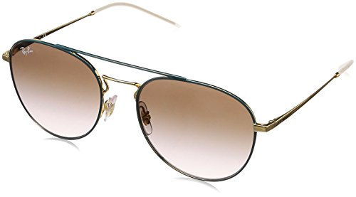 Ray-Ban RAYBAN Damen Sonnenbrille 0rb3589 905613 55, Gold Top On Green/Light Gradient Brown