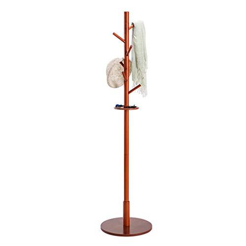 HAIYUGUAGAO Garderobe Hall Tree Coat Hat Rack Freistehende Moderne Eingangsbereich aus Holz Kleiderständer Hut Ecke Hall Umbrella Stand Baum für Schlafzimmer Wohnzimmer Büro (Color : Brown) - Coat Tree