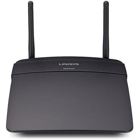 Linksys WAP300N-EU - Punto de acceso inalámbrico de doble banda N300 Linksys WAP300N (N300 Mbps, doble banda, 1x 10/100 Fast Ethernet, 2 antenas), negro