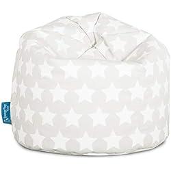 Lounge Pug®, Puff Infantil, Estampado para Niños - Estrellas Gris