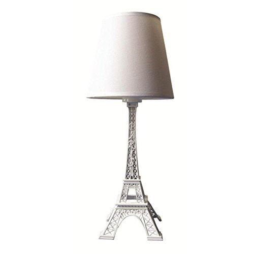Lampada a Torre Eiffel, altezza 38 cm, colore: Bianco