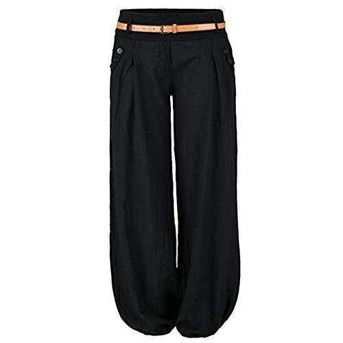 Litthing Pantalones Anchos Pierna Suelto Pantalon