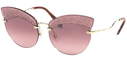 Miu Miu Sonnenbrillen SCENIQUE Evolution SMU 58T Gold/PINK Shaded Damenbrillen
