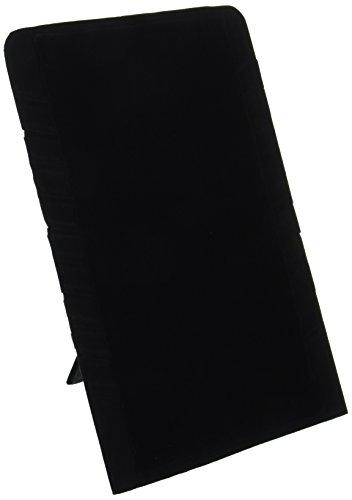 Darice-collana da donna, multi-espositore per piatto, 23 cm x 14 cm, colore: nero velluto