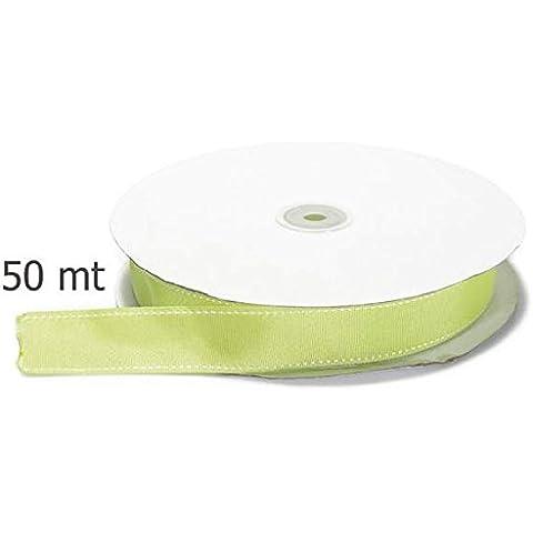 Nastro grosgrain doppia filza verde
