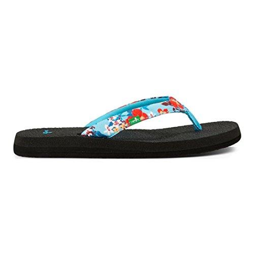 Sanuk Yoga Meta Womens Sandals Blau (aqua waikiki floral)