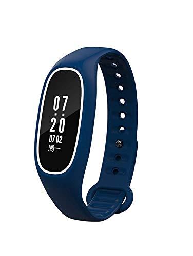 Weekendy Herzfrequenz-Blutdruck-Test-Schritt-Kalorien-Wasserdichte Sport-Uhr-Anruf-Anzeigen Schlaf-Entdeckungs-intelligentes Armband, Blau-OneSize