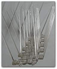 Birdproof Polycarbonate 4 Rows Bird Spike(Pigeon Spikes) for Bird Control- Pack of 5 nos.