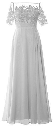 MACloth - Robe - Colonne - Femme Blanc