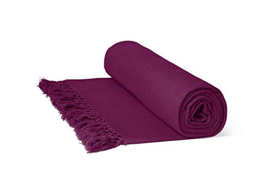 Just Contempo Manta algodón Rojo Oscuro Burgundy