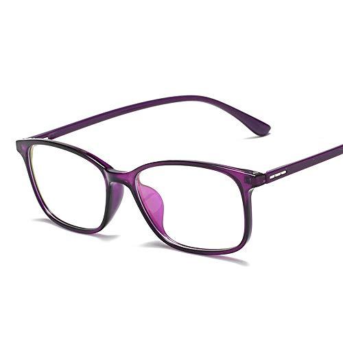 Easy Go Shopping Männer Frauen Blue Light Blocking Anti Augenbelastung Computer Brille Brille Für Sonnenbrillen und Flacher Spiegel (Color : Lila, Size : Kostenlos)