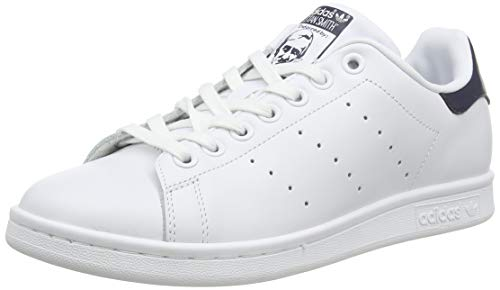 adidas Originals, Stan Smith, Sneakers, Unisex - Adulto, Bianco (Core White/Dark Blue), 40 2/3 EU