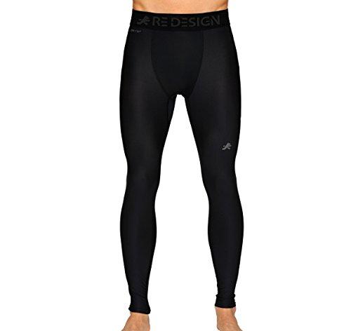 Redesign Compression Pants Tights (Nylon), Skins, Men's Legging, Base Layer for Gym, Running, Cricket, Swimming, Cycling, Football, Yoga, Basketball, Tennis, Badminton & More