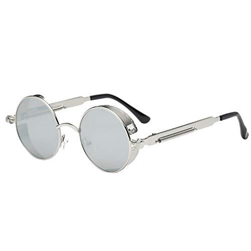 Brillenmode Unisex Vintage Eye Sonnenbrillen Retro Eyewear Mode Strahlenschutz Tägliches Tragen Multi Farbe für Wahl(Grau,free)