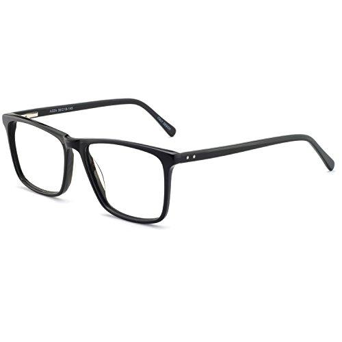 OCCI CHIARI Optische Brillen Rahmen modisch flexibles Rechteck brille ohne sehstärke Dekoration Brillengestell mit Federscharnier Herren