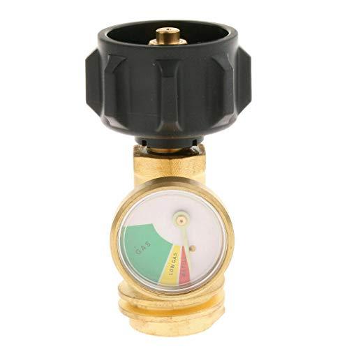 QCC1 Propangan-Tank-Adapter, SUNWAN Schlauchumwandler Leckdetektor mit Manometer für LP, Gasgrill, BBQ, RVs, universelle Passform