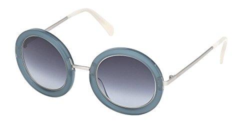 Emilio pucci occhiali da sole ep0064 matte blue grey/blue shaded donna