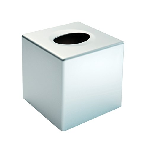 Gerson 5158B Boite à mouchoirs carré en ABS Blanc 13,5 x 13,5 x 13 cm Acrylonitrile Butadiène Styrène