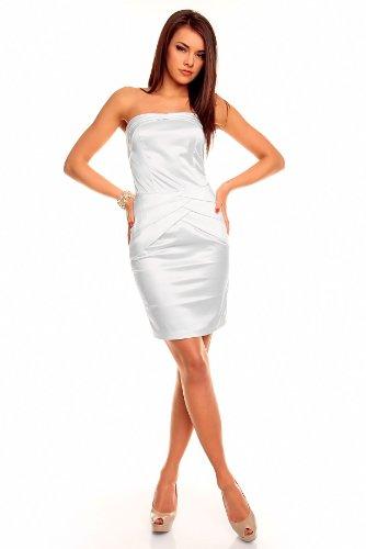 Young-Fashion -  Vestito  - Donna Creme Weiss