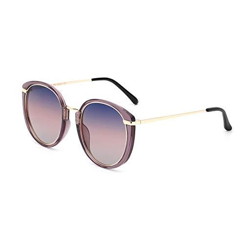 LZRDZSW Koreanische Version der Trend Sonnenbrille, Anti-UVA Anti-UVB polarisiert, rundes Gesicht polarisiert große runde Sonnenbrille Damen Straßenbrille, geeignet für das Fahren im Freien Sport Stre