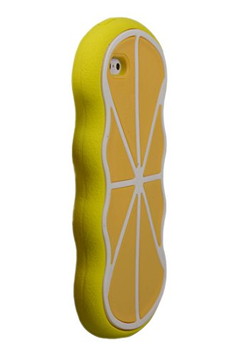 Forme d'agrumes en caoutchouc souple en silicone cas 3D pour iPhone 6, 6s (Rose) © Sloth Cases Yellow