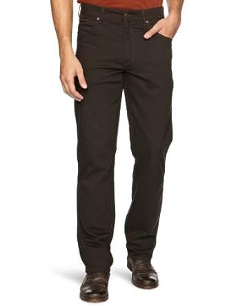 Wrangler Men's Texas Cord Regular Fit Trousers, Dark Teak, W30/L32