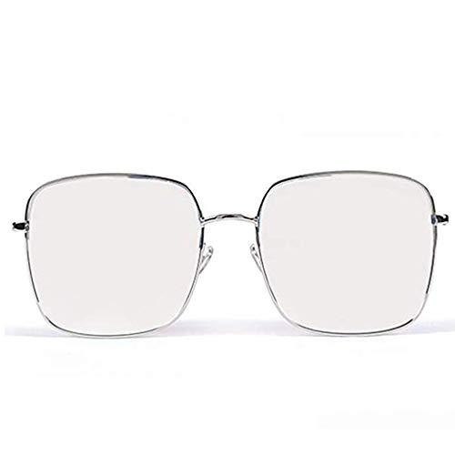 Glücklich zusammen Einfache Sonnenbrille Anti-UV Round Face Large Frame polarisierte Sonnenbrille (Color : B)